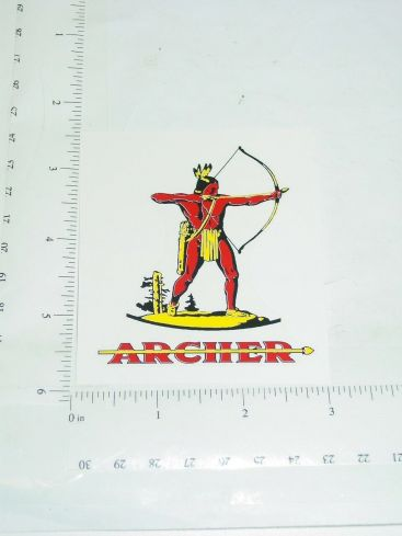 "3"" Tall Archer Oil Sticker Main Image"