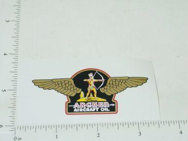 "3"" Wide Archer Aircraft Oil Sticker Main Image"