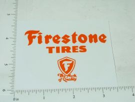 "3"" Wide Firestone Tires Sticker"