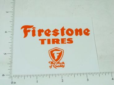 "3"" Wide Firestone Tires Sticker Main Image"