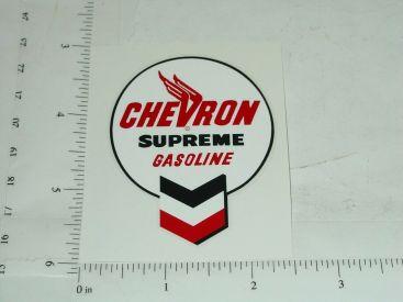 """2"""" Wide Chevron Supreme Gasoline Sticker Main Image"""