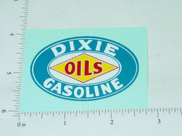 "2.5"" Wide Dixie Gas Oval Sticker Main Image"