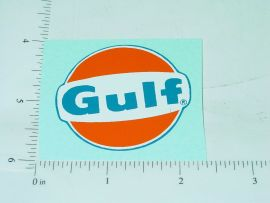 "2"" Round Gulf Oil Sticker Style 2"
