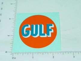 "2"" Round Gulf Oil Sticker"