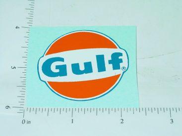 """2"""" Round Gulf Oil Sticker Style 2 Main Image"""