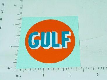"""2"""" Round Gulf Oil Sticker Main Image"""
