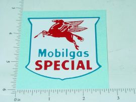 "2.5"" Wide Mobilgas Special Sticker"