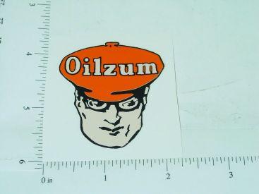 "2"" Wide Oilzum Motor Oil Head Sticker Main Image"