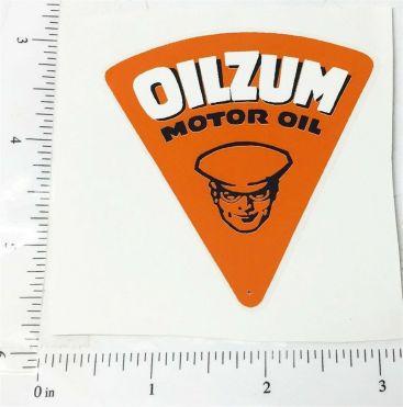 """2.5"""" Wide Oilzum Motor Oil Triangle Sticker Main Image"""