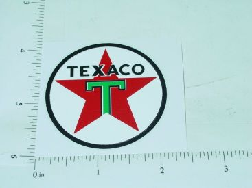 "2"" Texaco Gasoline Round Sticker Main Image"