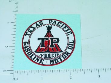 "2"" Wide Texas Pacific Gasoline Motor Oil Sticker Main Image"