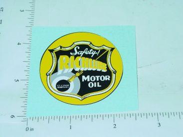 "2"" Wide Richlube Motor Oil Sticker Main Image"