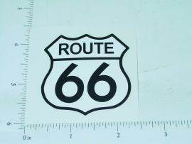 "2"" Wide Route 66 Badge Sticker"