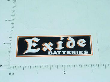 "3"" Wide Exide Batteries Sticker Main Image"