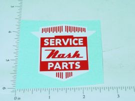 "2"" Wide Nash Service Parts Sticker"