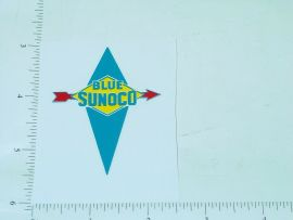 "2"" Wide Sunoco Blue Gasoline Sticker"