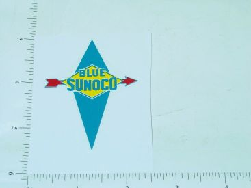 "2"" Wide Sunoco Blue Gasoline Sticker Main Image"