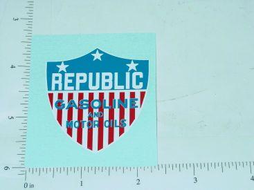 "2"" Wide Republic Gasoline and Motor Oil Sticker Main Image"