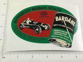 "5"" Wide 1953 Bardahl Motor Oil Oval Sticker"