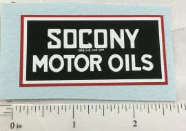 "2.5"" Wide Socony Motor Oils Sticker"
