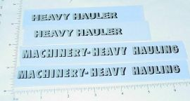 All American Heavy Hauler Semi Trailer Stickers