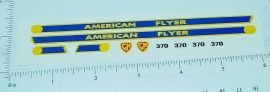 American Flyer S Scale 370 GP-7 Diesel Locomotive Sticker Set
