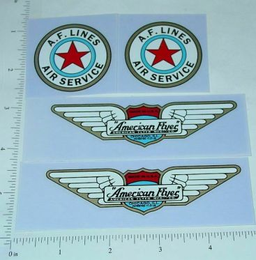 American Flyer Monoplane Replacement Stickers Main Image