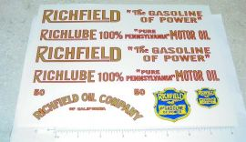 American National Richfield Tanker Sticker Set