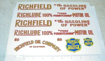 American National Richfield Tanker Sticker Set Main Image