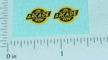Pair Yellow/Black Arcade Toys Vehicle Stickers Main Image