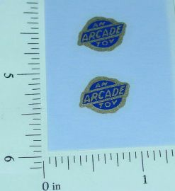 Pair Navy/Gold Arcade Toys Vehicle Stickers