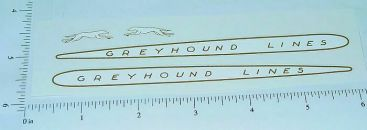 Arcade Greyhound Lines Bus Sticker Set Main Image