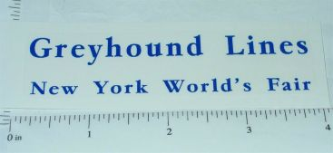 Arcade Cast Iron Greyhound Lines New York World's Fair Sticker Main Image