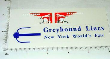 Arcade Cast Iron New York World's Fair Greyhound Trolley Sticker Main Image