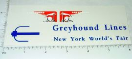 Arcade Cast Iron New York World's Fair Greyhound Trolley Sticker Set