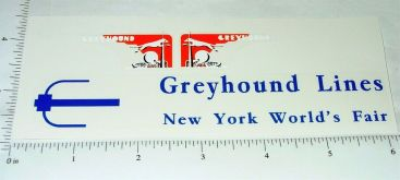 Arcade Cast Iron New York World's Fair Greyhound Trolley Sticker Set Main Image