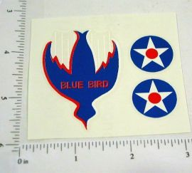 Buffalo Toys Bluebird Land Speed Car Stickers