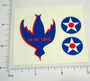 Buffalo Toys Bluebird Land Speed Car Stickers Main Image