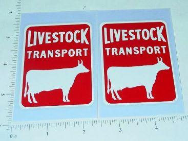 Pair Buckeye/Dunwell Cattle Livestock Trlr Stickers Main Image