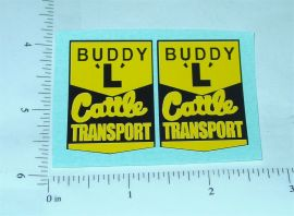 Buddy L Cattle Transport Truck Stickers