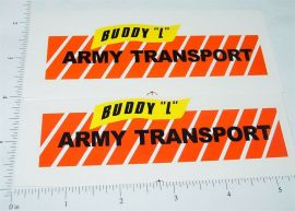 Buddy L Army Transport Truck Stickers