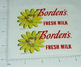 Buddy L Bordens Milk Van Sticker Set