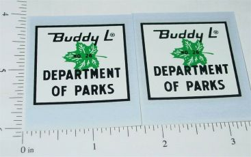 Buddy L Parks Department Truck Sticker Set Main Image