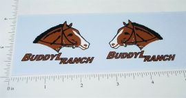 Buddy L Ranch Truck Replacement Sticker Set