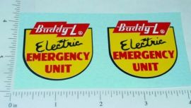 Buddy L Electric Emergency Truck Stickers