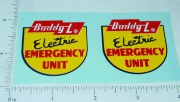 Buddy L Electric Emergency Truck Stickers Main Image