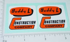Buddy L Construction Company Stickers