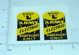 Buddy L Army Searchlight Truck Stickers