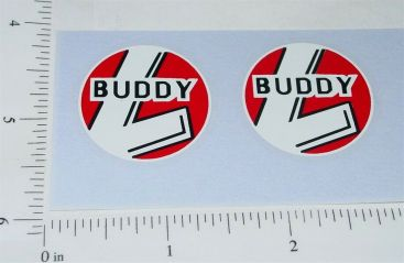 Buddy L Red/White/Black Round Door Stickers Main Image