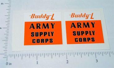 Buddy L Army Supply Truck Sticker Set Main Image